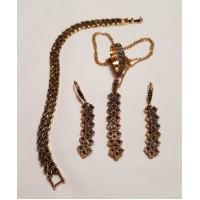 Halsband, ring, örhänge och armband